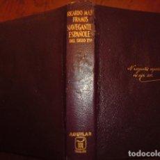 Libros antiguos: VIDA DE NAVEGANTES ESPAÑOLES DE SIGLOS XVI-XVII-XVIII, TOMO I,PIEL,BIBLIA,CINTA AGUILAR.. Lote 117781011