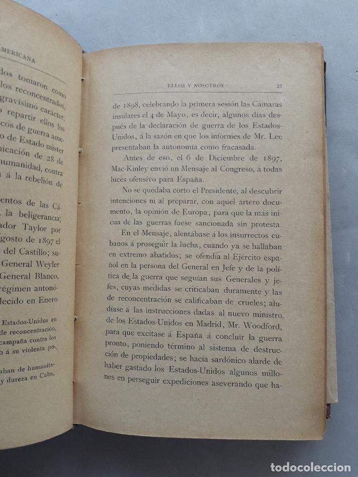 Libros antiguos: La Guerra Hispano-Americana. Santiago de Cuba. Por Severo Gómez Núñez. Año 1901. - Foto 7 - 118470823