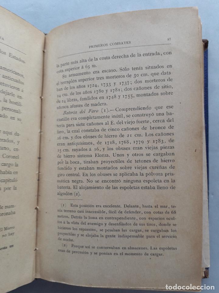 Libros antiguos: La Guerra Hispano-Americana. Santiago de Cuba. Por Severo Gómez Núñez. Año 1901. - Foto 11 - 118470823