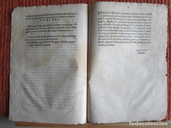 Libros antiguos: 1587-LEY Y PRAGMÁTICA QUE MODERA Y PONE PRECIO JUSTO A LOS CENSOS DE POR VIDA.MADRID.ORIGINAL - Foto 4 - 121464095