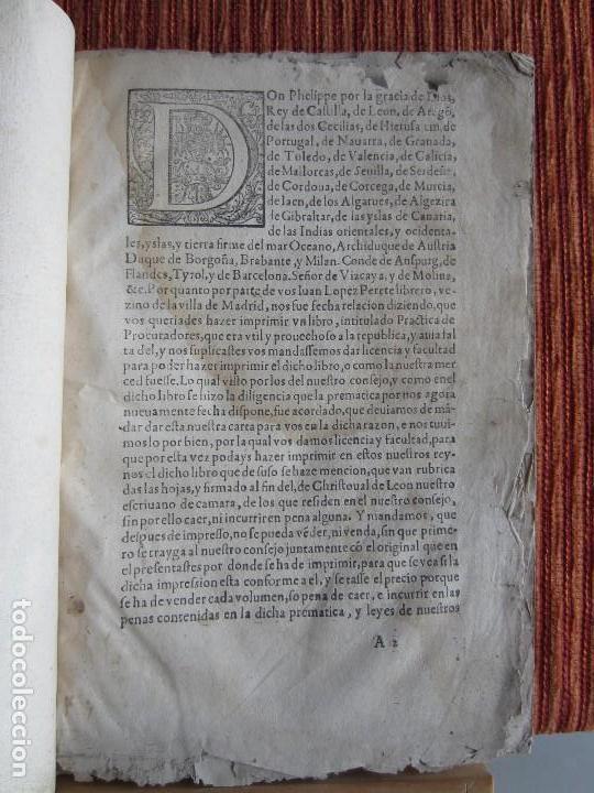 Libros antiguos: 1584-PRÁCTICA DE PROCURADORES.JUAN MUÑOZ.PROCURADOR CAUSAS EN GUEFCA.HUESCA.ARAGÓN.ORIGINAL Y ÚNICO - Foto 4 - 121502743