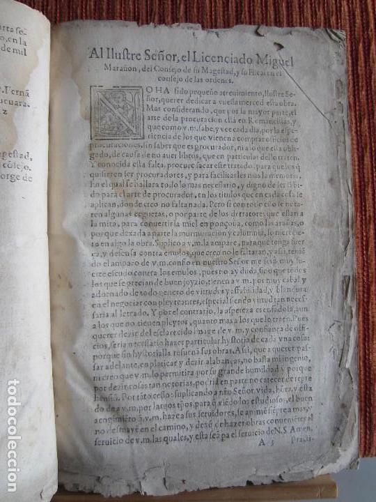 Libros antiguos: 1584-PRÁCTICA DE PROCURADORES.JUAN MUÑOZ.PROCURADOR CAUSAS EN GUEFCA.HUESCA.ARAGÓN.ORIGINAL Y ÚNICO - Foto 5 - 121502743