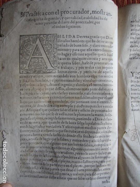 Libros antiguos: 1584-PRÁCTICA DE PROCURADORES.JUAN MUÑOZ.PROCURADOR CAUSAS EN GUEFCA.HUESCA.ARAGÓN.ORIGINAL Y ÚNICO - Foto 6 - 121502743