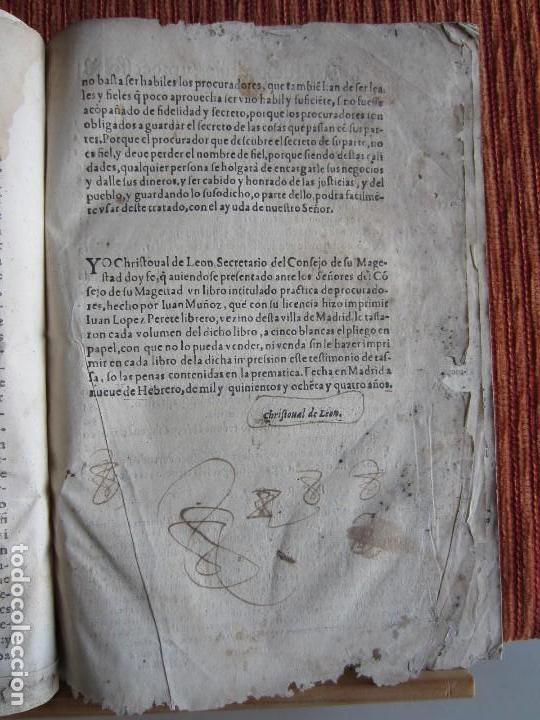 Libros antiguos: 1584-PRÁCTICA DE PROCURADORES.JUAN MUÑOZ.PROCURADOR CAUSAS EN GUEFCA.HUESCA.ARAGÓN.ORIGINAL Y ÚNICO - Foto 7 - 121502743