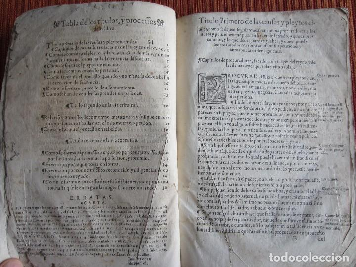 Libros antiguos: 1584-PRÁCTICA DE PROCURADORES.JUAN MUÑOZ.PROCURADOR CAUSAS EN GUEFCA.HUESCA.ARAGÓN.ORIGINAL Y ÚNICO - Foto 8 - 121502743