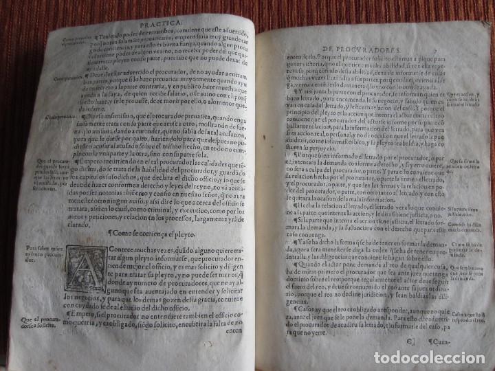 Libros antiguos: 1584-PRÁCTICA DE PROCURADORES.JUAN MUÑOZ.PROCURADOR CAUSAS EN GUEFCA.HUESCA.ARAGÓN.ORIGINAL Y ÚNICO - Foto 9 - 121502743