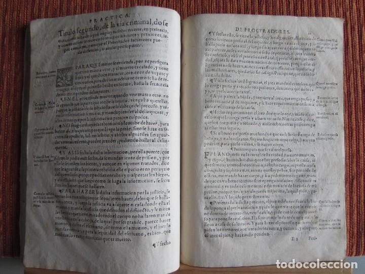 Libros antiguos: 1584-PRÁCTICA DE PROCURADORES.JUAN MUÑOZ.PROCURADOR CAUSAS EN GUEFCA.HUESCA.ARAGÓN.ORIGINAL Y ÚNICO - Foto 10 - 121502743