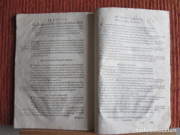 Libros antiguos: 1584-PRÁCTICA DE PROCURADORES.JUAN MUÑOZ.PROCURADOR CAUSAS EN GUEFCA.HUESCA.ARAGÓN.ORIGINAL Y ÚNICO - Foto 11 - 121502743