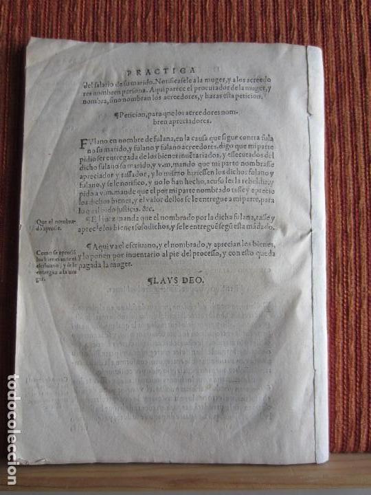 Libros antiguos: 1584-PRÁCTICA DE PROCURADORES.JUAN MUÑOZ.PROCURADOR CAUSAS EN GUEFCA.HUESCA.ARAGÓN.ORIGINAL Y ÚNICO - Foto 12 - 121502743