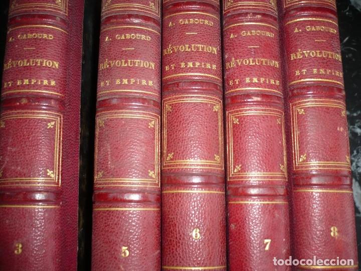 Libros antiguos: HISTOIRE DE LA REVOLUTION ET DE LEMPIRE AMEDEE GABOURD 1847 PARIS 3-5-6-7-8 - Foto 7 - 121981175