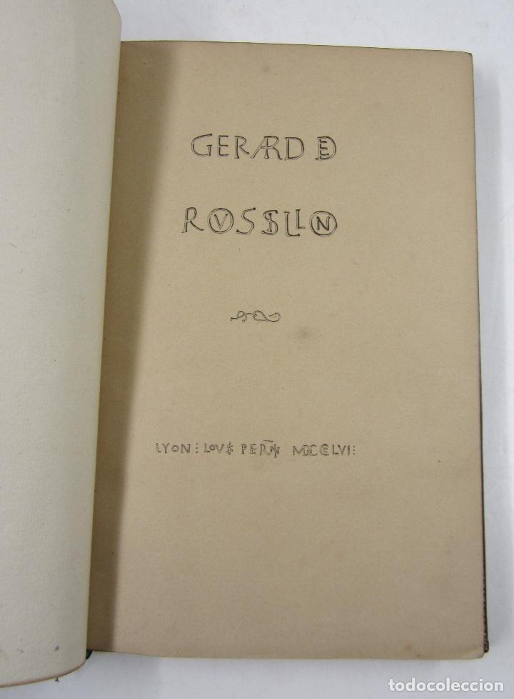 Libros antiguos: S'ensuyt l'hystoire de monseigneur Gerard de Roussillon, 1856, Lyon. 15x23cm - Foto 3 - 122665159