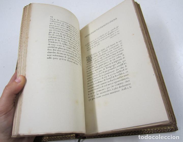 Libros antiguos: S'ensuyt l'hystoire de monseigneur Gerard de Roussillon, 1856, Lyon. 15x23cm - Foto 5 - 122665159