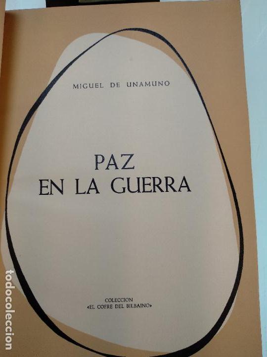 Libros antiguos: PAZ EN LA GUERRA - MIGUEL DE UNAMUNO - COLECC. EL COFRE BILBAINO - 1972 - BILBAO - NUMERADO - - Foto 3 - 122821235