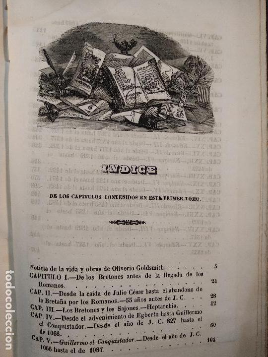 Libros antiguos: HISTORIA DE INGLATERRA POR OLIVERIO GOLDSMITH - VERTIDA AL CASTELLANO POR DON ANGEL FERNANDEZ DE LOS - Foto 12 - 122821915