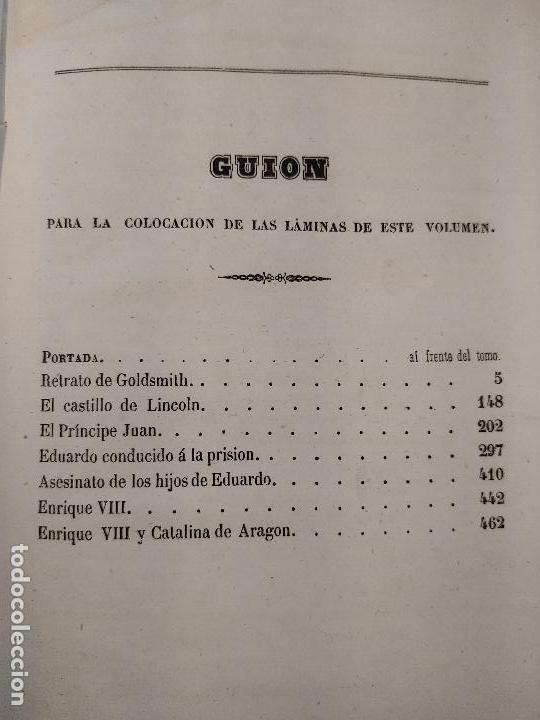 Libros antiguos: HISTORIA DE INGLATERRA POR OLIVERIO GOLDSMITH - VERTIDA AL CASTELLANO POR DON ANGEL FERNANDEZ DE LOS - Foto 14 - 122821915