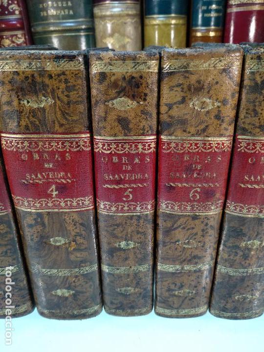 Libros antiguos: OBRAS DE DON DIEGO DE SAAVEDRA FAXARDO - 11 TOMOS - EN LA OFICINA DE D. BENITO CANO - MADRID - 1789 - Foto 3 - 122824867