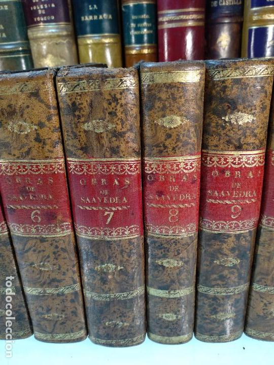 Libros antiguos: OBRAS DE DON DIEGO DE SAAVEDRA FAXARDO - 11 TOMOS - EN LA OFICINA DE D. BENITO CANO - MADRID - 1789 - Foto 4 - 122824867