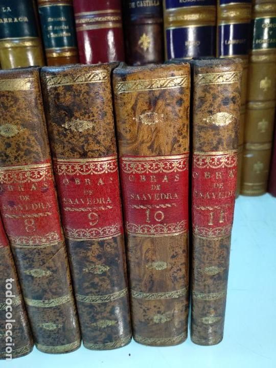 Libros antiguos: OBRAS DE DON DIEGO DE SAAVEDRA FAXARDO - 11 TOMOS - EN LA OFICINA DE D. BENITO CANO - MADRID - 1789 - Foto 5 - 122824867