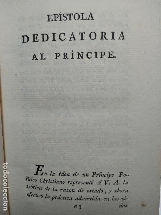 Libros antiguos: OBRAS DE DON DIEGO DE SAAVEDRA FAXARDO - 11 TOMOS - EN LA OFICINA DE D. BENITO CANO - MADRID - 1789 - Foto 9 - 122824867