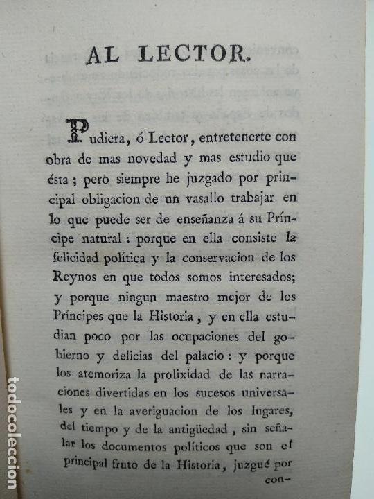 Libros antiguos: OBRAS DE DON DIEGO DE SAAVEDRA FAXARDO - 11 TOMOS - EN LA OFICINA DE D. BENITO CANO - MADRID - 1789 - Foto 10 - 122824867