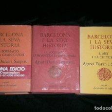 Libros antiguos: F1 BARCELONA Y LA SEVA HISTORIA TRES TOMOS AGUSTI DURAN I SANPERE . Lote 123787543