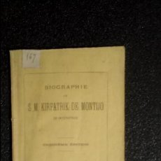 Libros antiguos: HISTORIA. S. M. KIRPATRUK DE MONTIJO.. Lote 124293451