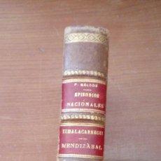 Libros antiguos: EPISODIOS NACIONALES ZUMALACARREGUI - MENDIZABAL 1929 BENITO PEREZ GALDOS UNAS 600 PGS.. Lote 125335755