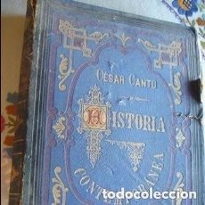 Libros antiguos: HISTORIA CONTEMPORANEA. CESAR CANTU. 1882. Lote 125345911
