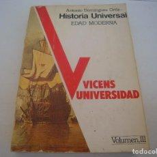 Libros antiguos: HISTORIA UNIVERSAL EDAD MODERNA ESTA SUBRAYADO . Lote 126197051