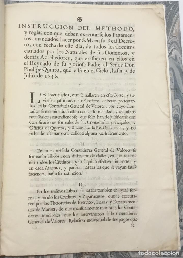 Libros antiguos: REAL DECRETO DEL REY NUESTRO SEÑOR DON CARLOS TERCERO (...) en que (...) se ha servido consignar die - Foto 3 - 123269142