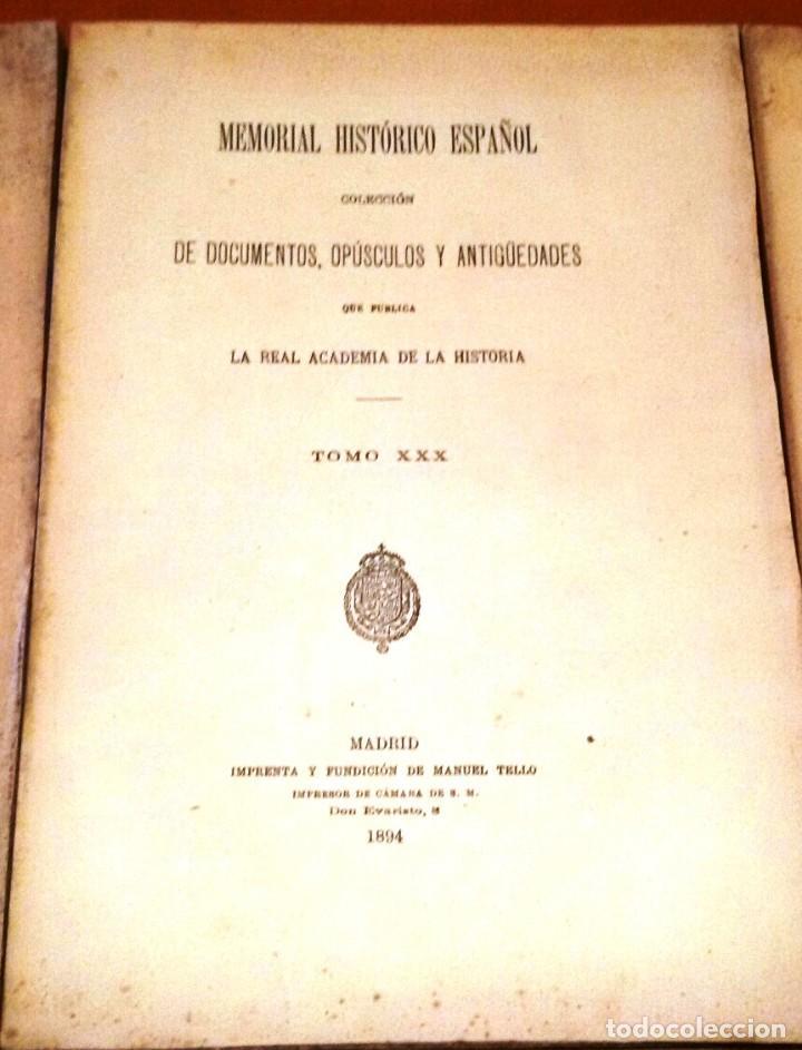 Libros antiguos: MEMORIAL HISTÓRICO ESPAÑOL. HISTORIA DE CARLOS IV 6 TOMOS (MURIEL 1893-95) SIN USAR - Foto 3 - 126575147