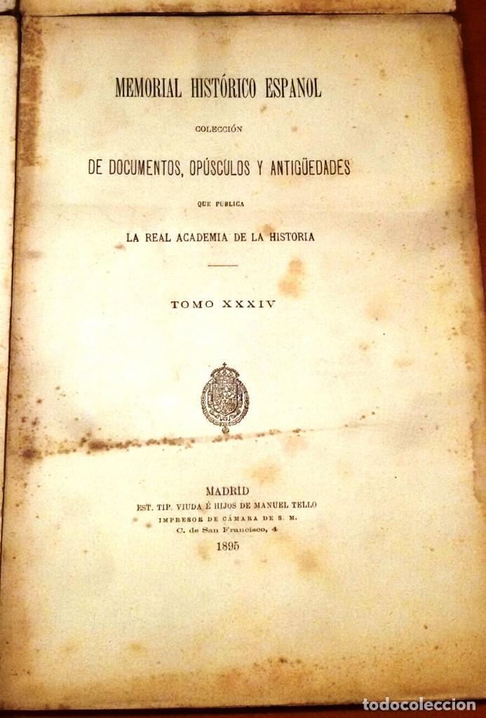 Libros antiguos: MEMORIAL HISTÓRICO ESPAÑOL. HISTORIA DE CARLOS IV 6 TOMOS (MURIEL 1893-95) SIN USAR - Foto 7 - 126575147