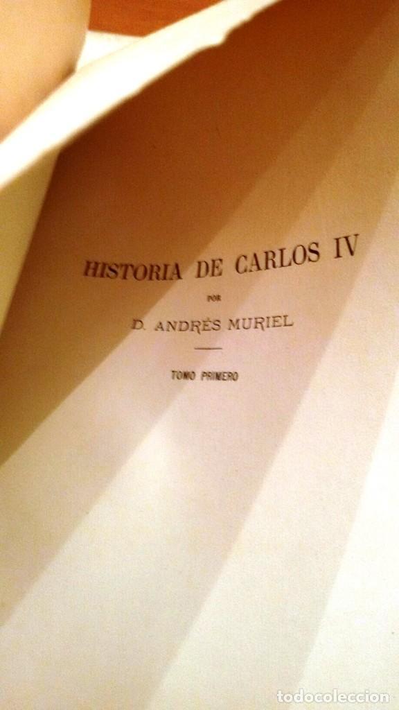 Libros antiguos: MEMORIAL HISTÓRICO ESPAÑOL. HISTORIA DE CARLOS IV 6 TOMOS (MURIEL 1893-95) SIN USAR - Foto 8 - 126575147