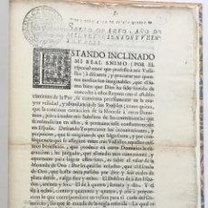 Libros antiguos: [DECRETO SOBRE EL AUMENTO DE VALOR DE LA MONEDA.] - [FELIPE V.]. Lote 123265726