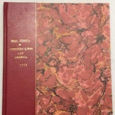 Alte Bücher - REAL CEDULA DE S.M. y señores del Consejo en que se estiende el COMERCIO-LIBRE de los puerto habili - 123149951