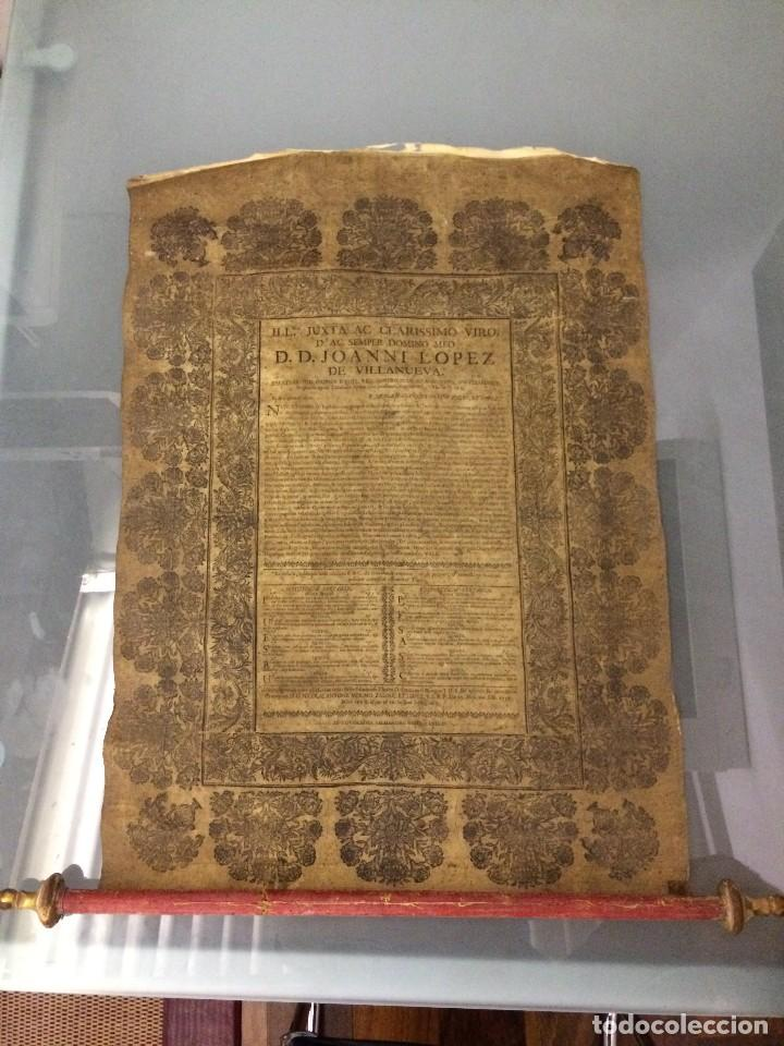 PERGAMINO DE 1757 DE GRAN RAREZA (Libros antiguos (hasta 1936), raros y curiosos - Historia Moderna)