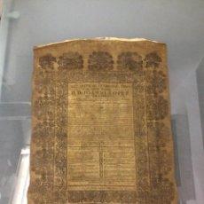 Libros antiguos: PERGAMINO DE 1757 DE GRAN RAREZA. Lote 127228355