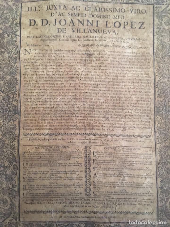 Libros antiguos: PERGAMINO DE 1757 DE GRAN RAREZA - Foto 4 - 127228355