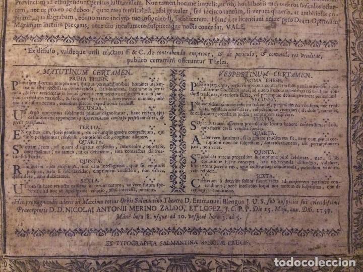 Libros antiguos: PERGAMINO DE 1757 DE GRAN RAREZA - Foto 6 - 127228355