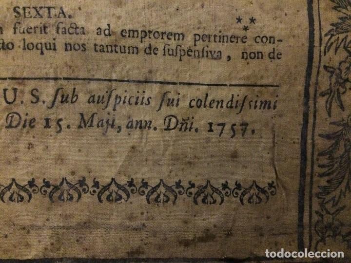 Libros antiguos: PERGAMINO DE 1757 DE GRAN RAREZA - Foto 7 - 127228355