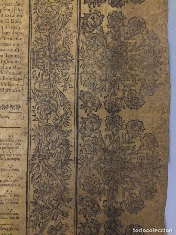 Libros antiguos: PERGAMINO DE 1757 DE GRAN RAREZA - Foto 8 - 127228355