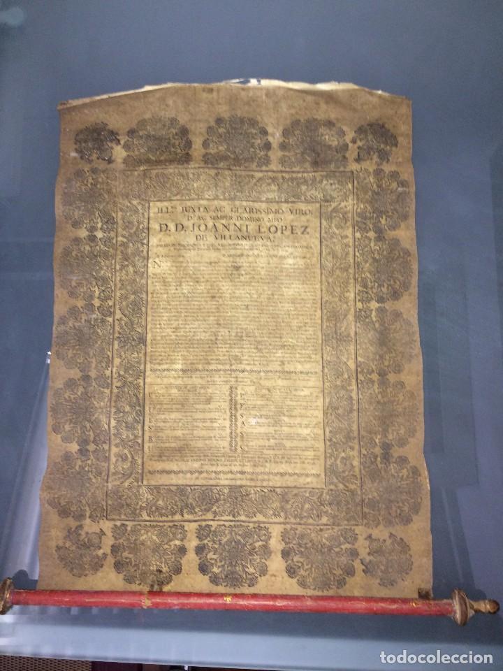 Libros antiguos: PERGAMINO DE 1757 DE GRAN RAREZA - Foto 12 - 127228355