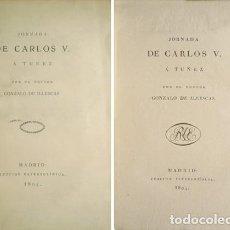 Libros antiguos: LLESCAS, GONZALO DE (1521-1574). JORNADA DE CARLOS V A TÚNEZ. 1804.. Lote 128423071