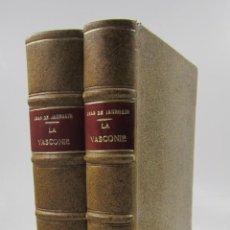 Libros antiguos: LA VASCONIE ÉTUDE HISTORIQUE ET CRITIQUE, JEAN DE JAURGAIN, 1898, 2 TOMOS, PAU. 17,5X24,5CM. Lote 128427963