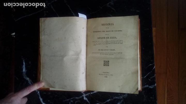 Libros antiguos: Navarra. La Conquista del reino por el Duque de Alba. Historia Pais Vasco. - Foto 2 - 129374035
