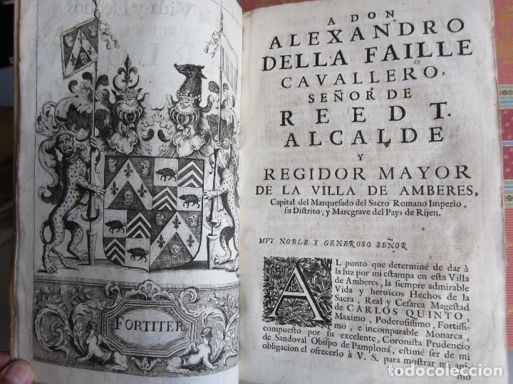 Libros antiguos: 1681-VIDA DEL EMPERADOR CARLOS V. SANDOVAL.GERONIMO VERDUSSEN.COMPLETA EN DOS TOMOS CON 48 GRABADOS - Foto 8 - 130004959