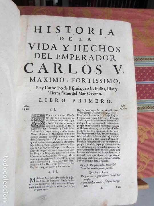 Libros antiguos: 1681-VIDA DEL EMPERADOR CARLOS V. SANDOVAL.GERONIMO VERDUSSEN.COMPLETA EN DOS TOMOS CON 48 GRABADOS - Foto 9 - 130004959