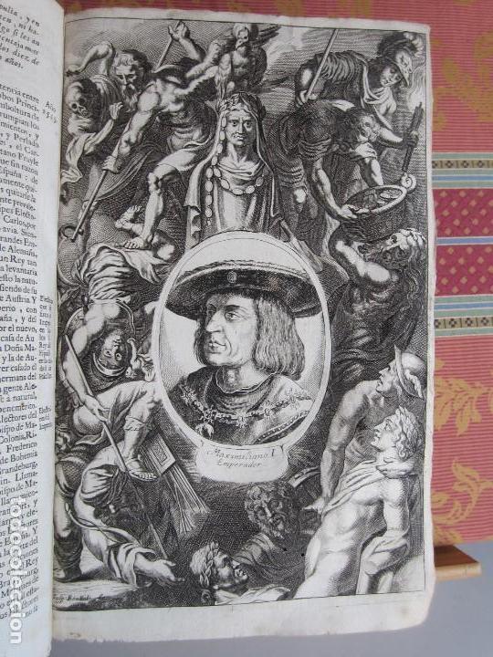 Libros antiguos: 1681-VIDA DEL EMPERADOR CARLOS V. SANDOVAL.GERONIMO VERDUSSEN.COMPLETA EN DOS TOMOS CON 48 GRABADOS - Foto 14 - 130004959