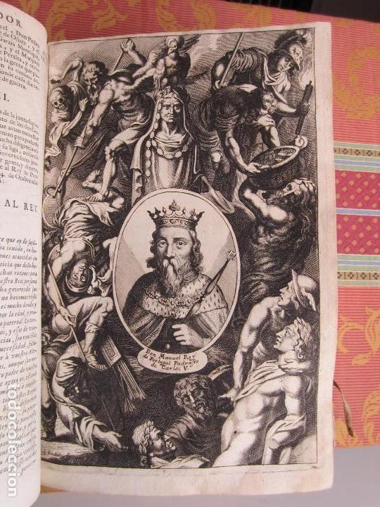 Libros antiguos: 1681-VIDA DEL EMPERADOR CARLOS V. SANDOVAL.GERONIMO VERDUSSEN.COMPLETA EN DOS TOMOS CON 48 GRABADOS - Foto 17 - 130004959