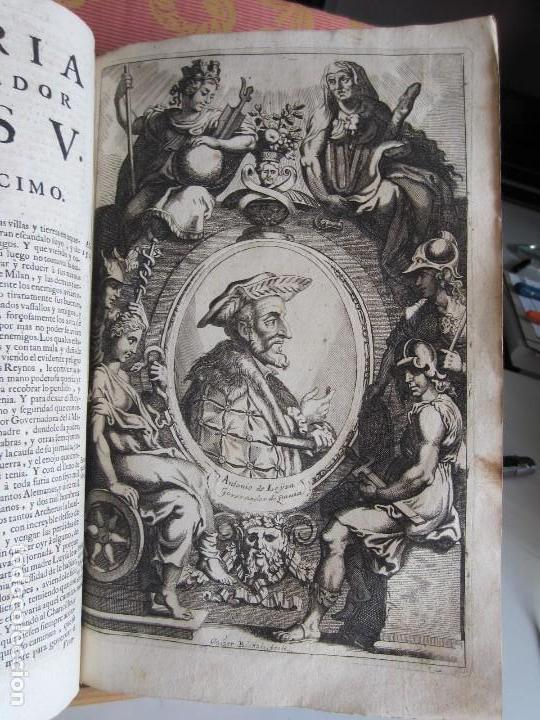 Libros antiguos: 1681-VIDA DEL EMPERADOR CARLOS V. SANDOVAL.GERONIMO VERDUSSEN.COMPLETA EN DOS TOMOS CON 48 GRABADOS - Foto 22 - 130004959